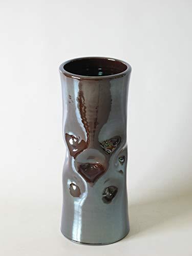 POLONIO - Paraguero de Cerámica - 50 cm - Paraguero o Bastonero para Entrada y Pasillo - Color Metalizado