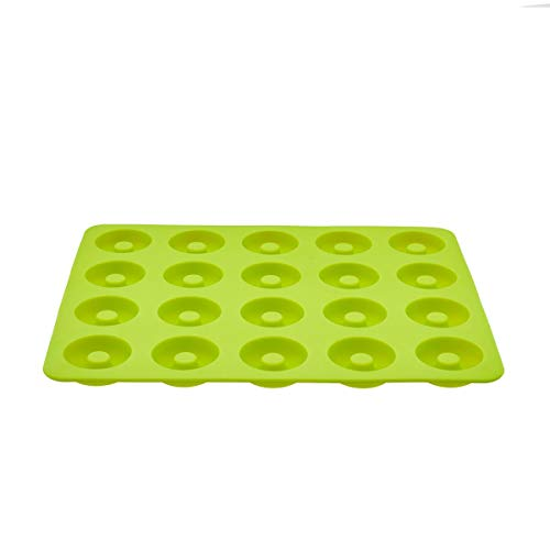 Original Steinbach Minidonutform | Backform | 24 Mini Donut | Silikon | Füllmenge ca. 280 ml | max. 200 °C | ca. 27 x 22 cm | grün