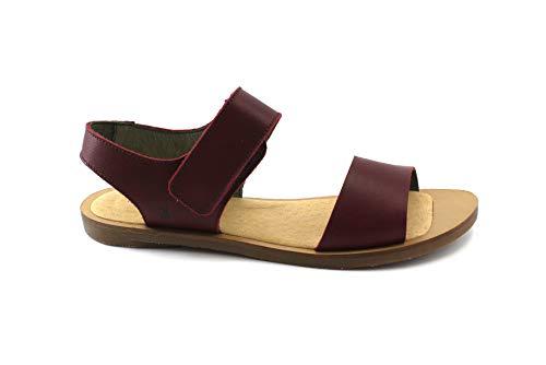 El Naturalista Damenschuhe NF30 Tulip Klassische Damen Sandale, Sandalette mit Klettverschluss Rot (Rioja), EU 40