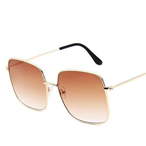 Astemdhj Gafas de Sol Sunglasses Gafas De Sol Cuadradas De Gran Tamaño para Mujer Diseñador Vintage Gradiente Azul Rosa Gafas De Sol para Mujeres Hombres Gafas C3Anti-UV