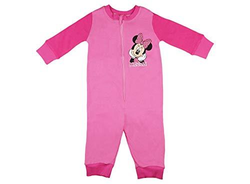 Mädchen Schlafoverall Warm Pyjama Einteiler Onesie Schlaf-Anzug Kinder-Strampler-Anzug Minnie Mouse von Disney in Größe 92 98 104 110 65% Baumwolle Jumpsuit, 110, Modell 1
