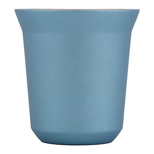 Taza de café de acero inoxidable con aislamiento de doble pared Taza de cápsula para la cafetería de la oficina en casa(Azul Jazz)