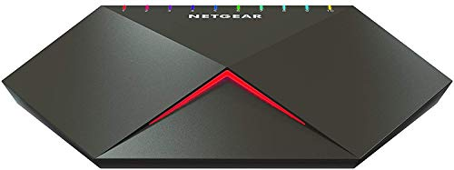 Netgear Nighthawk GS810EMX-100PES - Switch Pro Gaming SX10 (8 Puertos Gigabit Ethernet con 2 Puertos...