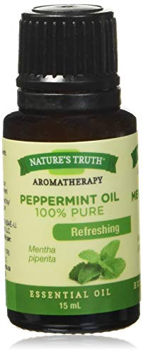 Nature's Truth Essential Oil - 100% Pure Peppermint Oil   Pure & Plant-Based   Massage Oil, Aromatherapy or for Bath/Shower  15 ml