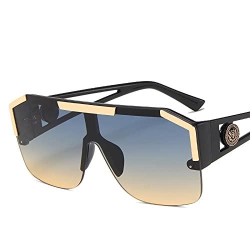 baidicheng Gafas de sol 2021 nuevas gafas de sol para hombre y mujer, gafas de sol masculinas de viaje vintage (lente color: negro, verde amarillo)