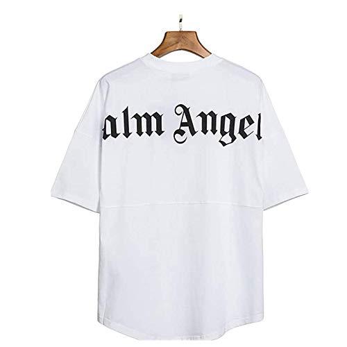 Herren und Damen T-Shirt Palm Angel Damen Bluse,Palm Angel -Shirt Rundem Ausschnitt Locker Lässige Palm Angel Blusen Tops,Palm Angel Damen Bluse Kurzarm Oberteile Tshirt V-Ausschnitte Sommershirts
