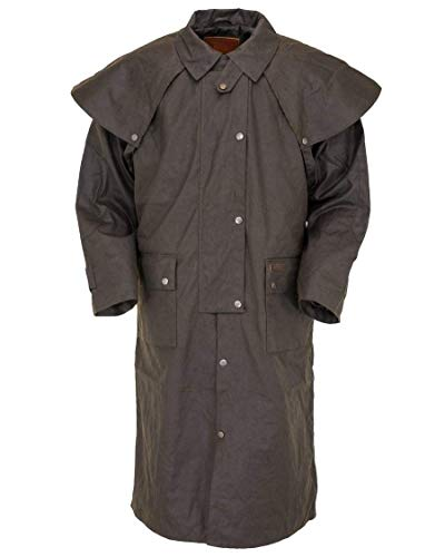 Outback Trading Unisex 2042 Low Rider Waterproof Breathable Full-Length Oilskin Duster Coat, Brown, X-Large