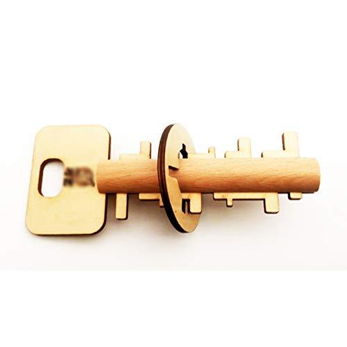 MTGYF Luban Lock Schlüsselbund Erwachsene alte Spielzeuge lösen langweiliges Puzzle entsperren Erwachsenen Dekompression Massivholz kreative Geschenke