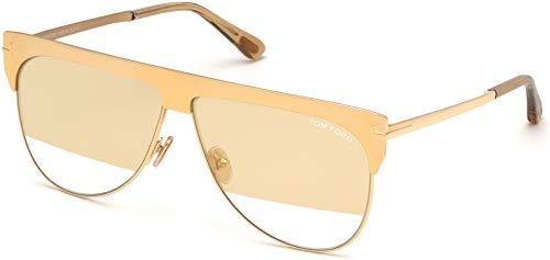 Tom Ford FT 0707 - Gafas de sol (chapadas en oro amarillo de 30 g), color transparente