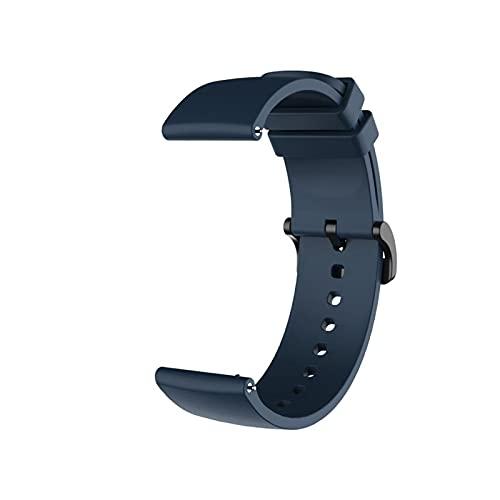 YNLRY Correa De Muñeca para Huami Amazfit GTS/GTS 2 Mini/BIP S Banda De Silicona para Amazfit BIP U Correa Reemplazo Pulsera Reloj Accesorios (Color : Navy Blue)