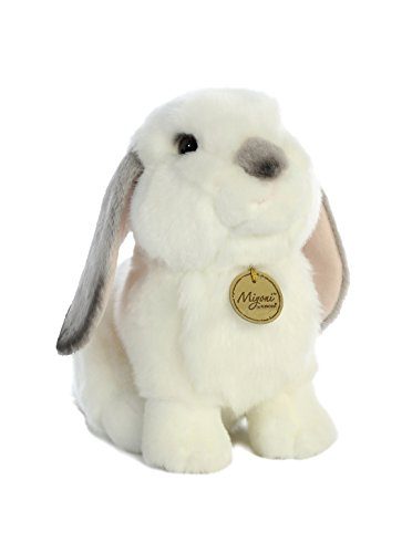 Aurora - Miyoni - 11' Lop Eared Rabbit with Grey Ears-Md.,White and Gray