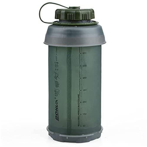 750ML portátil al aire libre plegable deporte suave botella de agua plegable...