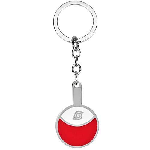Anime Naruto Symbol Pendant Keychain Anime Trinket Akatsuki Red Cloud Keyrings Car Key Holder Bag Charms 003