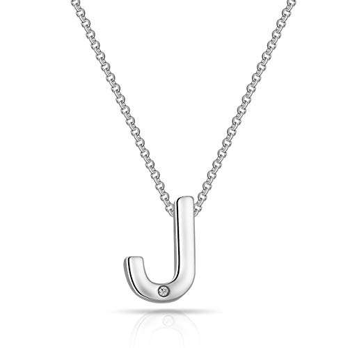 Initial Necklaces Created with Austrian Crystals - Letter J