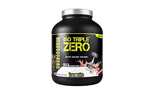 Laperva ISO Triple Zero Next Generation Premium Whey Protein Isolate Zero Carb, Zero Fat, Zero Sugar -Protein Supplements for Weight Loss and Muscle Gainer (Strawberry)
