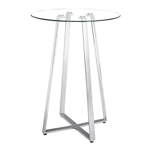 Glass Round High Top Kitchen Table