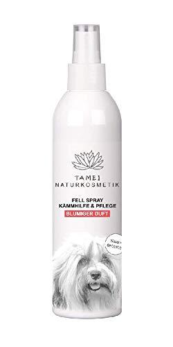 Tamei® Fell Spray 250 ml | Für Lang- & Kurzhaarfell | Mit Natürlichen Inhaltsstoffen | Naturkosmetik | Kämmhilfe, Pflege & Duft | Blumiger Duft | Vegan und Cruelty Free