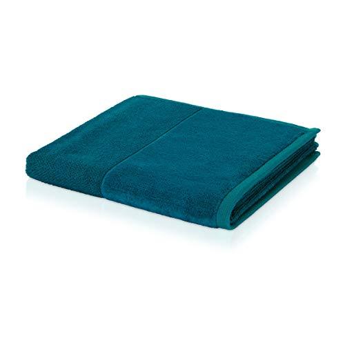 möve Bamboo Luxe Handtuch 50 x 100 cm aus 60% Baumwolle / 40% Viskose aus Bambus-Zellstoff,  deep lake