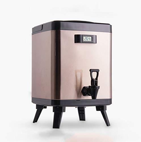 TOHOYOK Isolierte Getränkespender mit Temperaturanzeige, Doppelschicht-Edelstahl-Wärmeerhaltung versiegelt Fass Thermos Milchtee Kaffee-Milchbehälter, benutzt for Haus, Geschäft, Büro