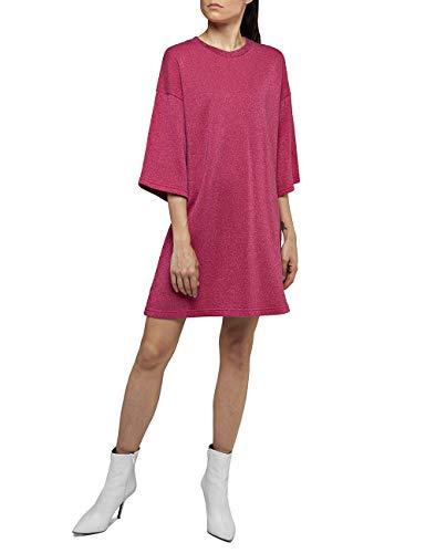 Replay Damen W9478 .000.22672 Kleid, Rosa (Fuxia Lurex 70), Large (Herstellergröße: L)