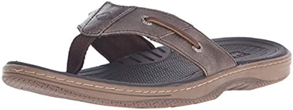 Sperry Mens Baitfish Thong Sandals, Brown, 14