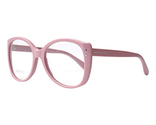 Gucci Unisex – Erwachsene GG0474O-005-54 Brillengestell, Pink Hell, 54