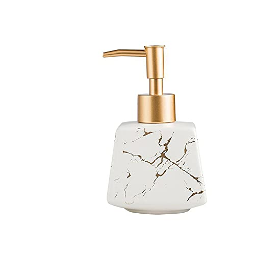 Dispensador de jabón de espuma, dispensador de líquidos, bomba de jabón de mármol, botella de bomba de lujo de lujo de lujo de lujo para jabón de mano, jabón para platos, desinfectante de manos, baños