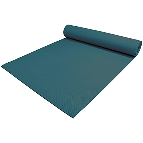 "YogaAccessories 1/4"" Thick High Density Deluxe Non Slip Exercise Pilates & Yoga Mat"