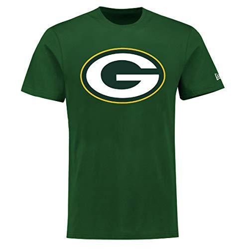 New Era Green Bay Packers T Shirt Reverse Base Tee Green - L