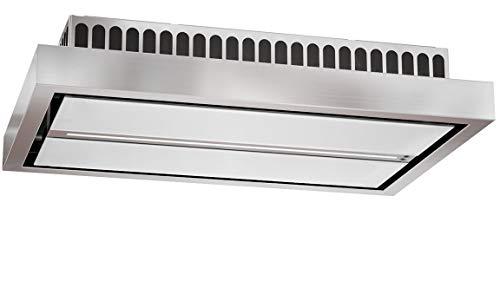 Umluft Deckenhaube 120 x 60 cm/Deckenlüfter in Edelstahl/ebm-Pabst-Motor/Saugstark 940 m³/h und Leise/Abzugshaube/Dunstabzugshaube mit Randabsaugung/Luftreinigung über elektrische Ionisierung