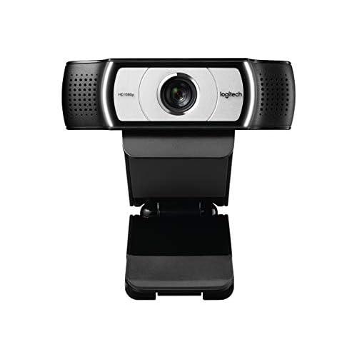 Logitech C930E Business Webcam HD, Videochiamata Full HD 1080p, Progettata Per Aziende, Campo Visivo 90°, USB, Zoom Digitale, Funziona con Skype, Zoom, Cisco, PC/Mac/Laptop/Macbook/Tablet , Nero