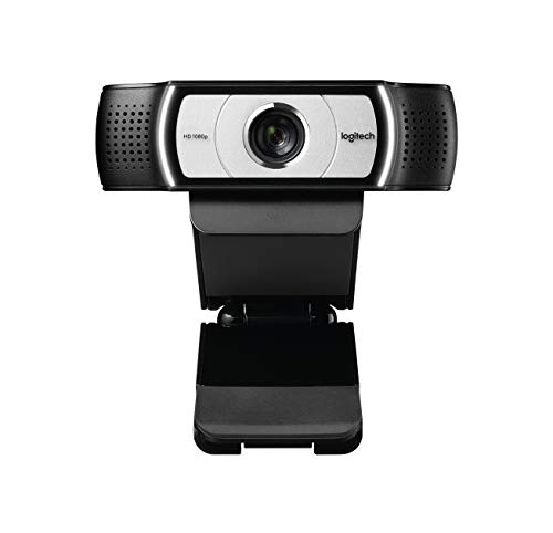 Logitech C930e Business Webcam, Video-Llamadas Full HD 1080p/30fps, Corrección y Enfoque Automáticos, Zoom 4X, Tapa de Privacidad, Skype Business, WebEx, Lync, Cisco, PC/Mac/Portátil/Macbook/Chrome