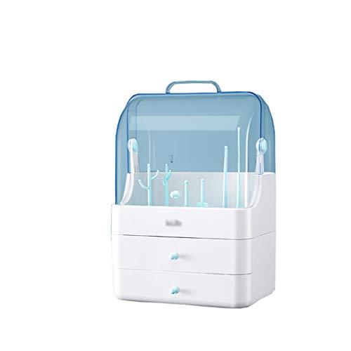 Storage Box BoîTe De Rangement CosméTique, Rangement pour Biberon, éTanche à La PoussièRe Et à l'eau, MatéRiau Abs, Vert