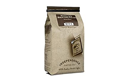 Independence Coffee Co. Madalyn's Backyard Pecan Flavored Mellow Body, Light Roast Whole Bean Coffee, 24 Ounce Bag