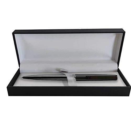 Bolígrafo Inoxcrom B77 Guilloche Negro Presentado en estuche Original Inoxcrom E-Luxe
