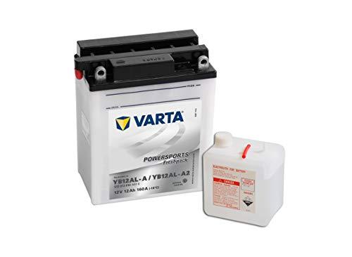 Varta Powersports Freshpack Motorradbatterie 512013012A514 - 12V / 12Ah - YB12AL-A / YB12AL-A2