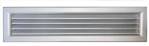 Griglia bocchetta ripresa alluminio aria calda fredda diffusore 300x100 mm