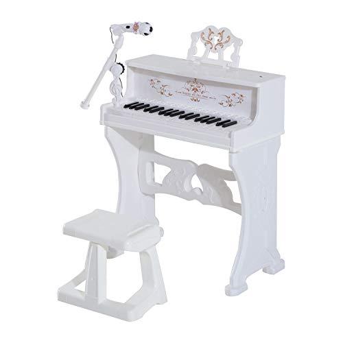 HOMCOM 37 Keys Mini Electronic Keyboard Light Kids Musical Instrument...