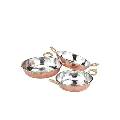 3er Set Türkische Kupferpfanne | Eierpfanne, Türkische Omelettepfanne Tava Sahan, Kupfer Pfannen