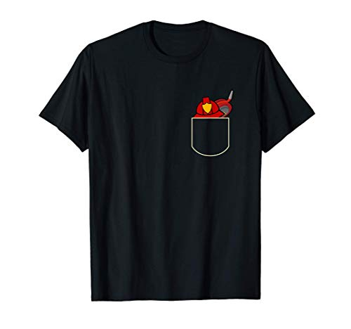 Casco De Bombero En El Bolsa Regalo Bombero Pocket Camiseta