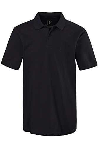 JP 1880 Herren große Größen Poloshirt, Halbarm, gerade geschnitten, Pikee-Qualität schwarz 3XL 702560 10-3XL