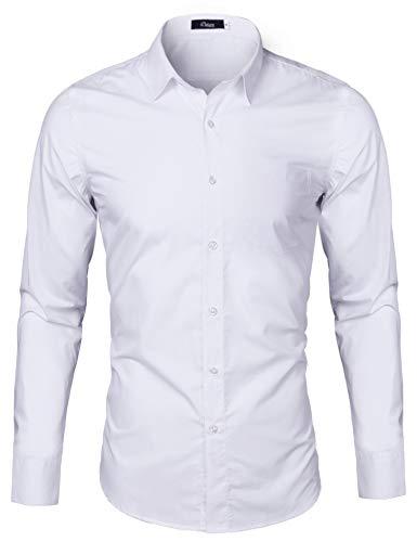 iClosam Herren Hemd Langarm Regular Fit Business Hemden für Anzug Freizeit Hochzeit