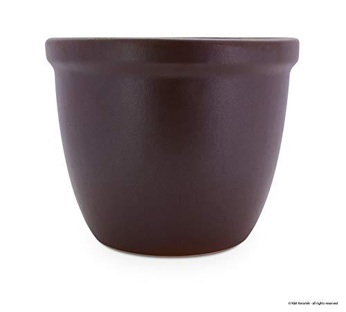Venus II Pot de fleur 28 x 20 cm (Marron mat de pierre en céramique de grande qualité) comme Décoration résistante au gel