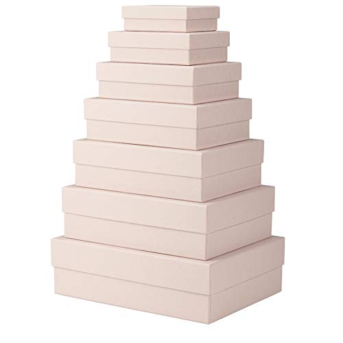 Rössler papier S.O.H.O. 7-delige kartonnen doos rechthoekig roze (powder)