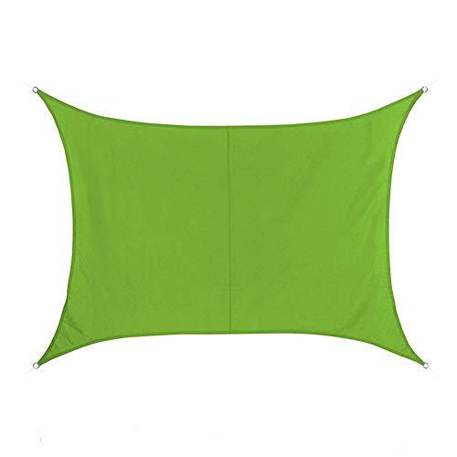 WZHIJUN Dom Vela de Sombra 3 × 3m Rectángulo Verde Sombrilla, Muy Adecuado Intemperie Terraza Patio Jardín Decoración (Color : Green, Size : 6×6m)