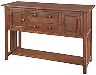 Crafters and Weavers Arts and Crafts Mission Solid Oak Sideboard Buffet