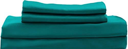 Hotel Sheets Direct Bamboo Bed Sheet Set 100% Viscose from Bamboo Sheet Set (California King, Sea Teal)