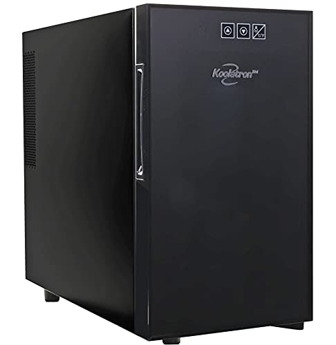 Urban Series 10 Bottle Single Zone Wine Cooler, Thermoelectric Wine Fridge, 1 Cubic Foot Freestanding Wine Cellar for Small Kitchen, Apartment, Condo, Cottage, RV