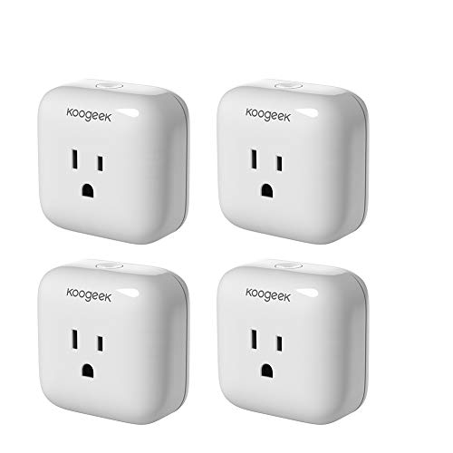 Koogeek Smart Plug, WiFi Socket Outlet Compatible with Amazon Alexa, Apple HomeKit and Google Assistant, Electronics Controller No Hub Required on 2.4Ghz Network UL&ETL&FCC certified (4 packs)