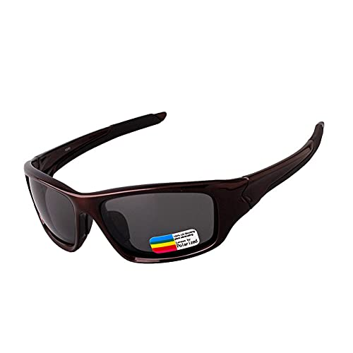 YYLI Gafas Deportivas Hombres Y Mujeres, Gafas De Sol con 100% De Protección UV400 Y Montura De TR-90, Gafas Sol Polarizadas Ara Ciclismo Carrera Triatlón Voleibol De Playa Y Senderismo,B